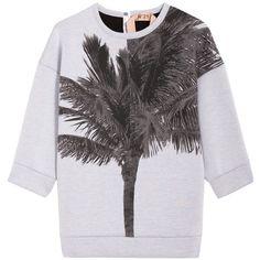No. 21 Neoprene Palm Sweater found on Polyvore