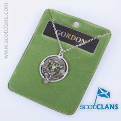 Gordon Clan Crest Pendant. Free Worldwide Shipping Available