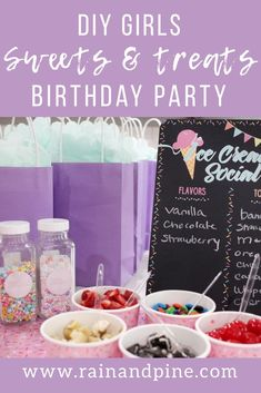 Sweets & Treats Birthday Party {DIY budget friendly parties for kids} girls party ideas - Rain and Pine