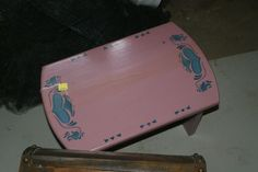 Pink small hand painted table. $25 OBO