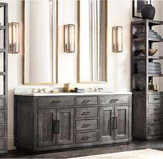 La Salle Metal-Wrapped Double Vanity