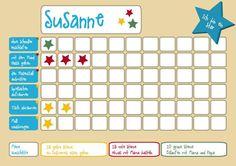 """Weiteres - """"Ich bin ein Star"""" – Belohnungstafel für 1 Kind - ein Designerstück von IdeenReich_Grafikdesign bei DaWanda"""