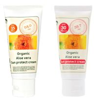 Organic Aloe vera Sun protect cream SPF15+++, SPF30++++ -made of Organics