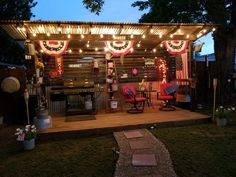 Backyard Bbq Pit, Backyard Gazebo, Backyard Sheds, Backyard Patio Designs, Outdoor Grill Station, Outdoor Cooking Area, Diy Outdoor Kitchen, Covered Outdoor Kitchens, Bbq Shed