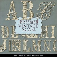 Downloadable vintage alphabet. Yes, please.