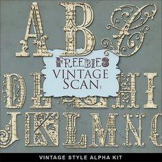 Downloadable vintage alphabet. Yes, please.