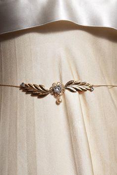 Bridal Golden Leafs Hip Belt