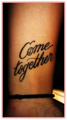 Cute Beatles tattoo.  - tattoos for girls get matching tattoos but all just songs/lyrics of the Beatles