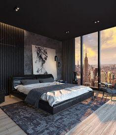 Black Bedroom Design, Home Room Design, Dream Home Design, Dream House Interior, Luxury Homes Dream Houses, Bedroom Setup, Home Decor Bedroom, Dream Apartment, Aesthetic Bedroom