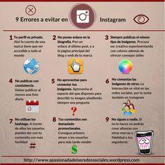 9 errores a evitar en Instagram.