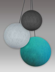3 cotton ball lampen
