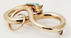 Victorian 14K yellow Gold Snake Brooch that has Turquoise stones on its head. Weight is 12.2 grams. | eBay!