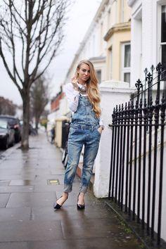 Sandra hagelstam denim street style look fashion blogger