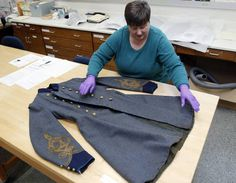 Preserving a frock coat in a NC museum
