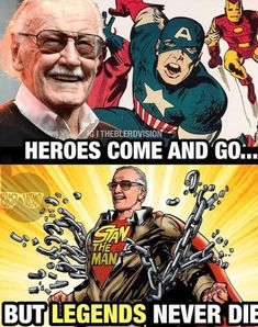I know I've already posted this, but Stan Lee is an amazing man who deserves the effing world! I could never live without marvel and he's the man who made it. Marvel Comics, Marvel Jokes, Avengers Memes, Marvel Funny, Marvel Art, Marvel Heroes, Marvel Avengers, Choses Cool, Gi Joe