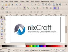 Linux Inkscape Similar Software To Adobe Illustrator, CorelDRAW, Xara Used for Vector Graphics