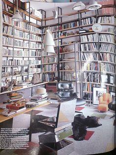 The library of artist Vik Muniz (from the documentary 'Waste Land') I will have a library in my future home
