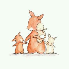 Familia de conejos.