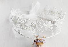 Daisy Bridal Crown Ivory Fairy Crown Daisy Head от HandyCraftTS