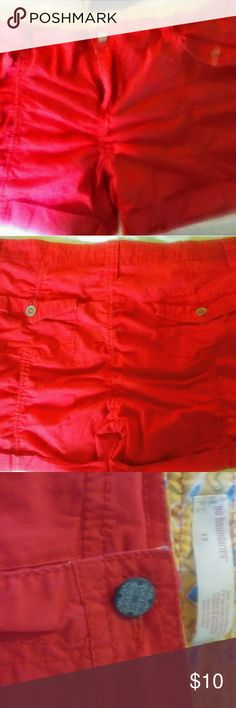 Women's Shorts Cute tufted red shorts brand new only worn once because they're too small for me, & I'm pregnant so need to have money for maternity clothes. Shorts