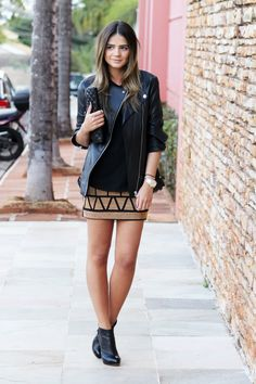 ankle boots & skirt