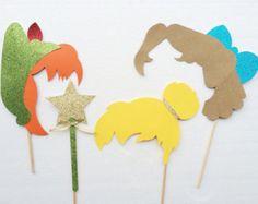 Peter Pan fiesta foto stand apoyos; Apoyos de la cabina de la foto de hadas; Decoración fiesta de cumpleaños
