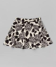 Look at this #zulilyfind! Girls Luv Pink Black Floral Skirt - Toddler & Girls by Girls Luv Pink #zulilyfinds