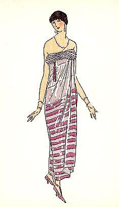 Flapper dress, 1920's Fashion, Gazette du Bon Ton, 1922.