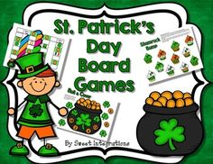 FREE Board Games with a St. Patrick's Day theme  - Bump It - Leprechaun Board Gam - Roll and Cover