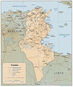awesome Map of Tunisia