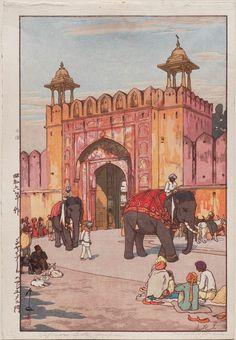「ジャイプールのアジュメル門」Golden Temple in Amritsar - 昭和6(1931)年