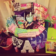 Magazines, candy, photos! Get creative with your big/little basket!