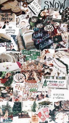 Christmas Phone Wallpaper, Cute Emoji Wallpaper, Holiday Wallpaper, Iphone Background Wallpaper, Aesthetic Iphone Wallpaper, Christmas Feeling, Cozy Christmas, Christmas Time, Christmas Collage