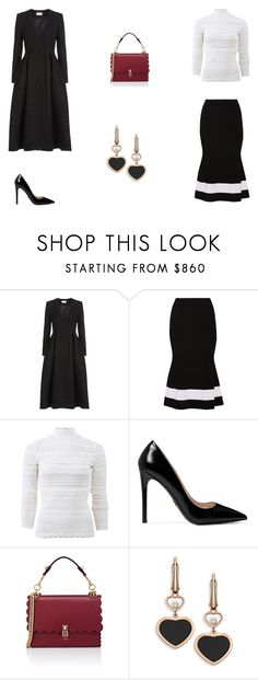 """""""Untitled #9549"""" by mie-miemie ❤ liked on Polyvore featuring Temperley London, Victoria Beckham, Alexander McQueen, Prada, Fendi and Chopard"""