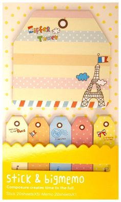 Items similar to Kawaii PARIS candy color travel cute bookmark STICKY notes memo pad Japan cartoon stationery planner DIY on Etsy Cute Bookmarks, Note Memo, Stationery Items, Smash Book, Sticky Notes, Candy Colors, Planner Diy, Kawaii, Japan