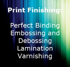 Print finishing is an essential part of the look and feel of your printed product, and we are the most trusted and reliable print finishing source in Johannesburg.