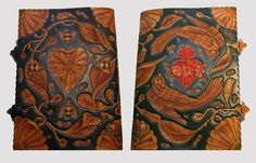 HAND CARVED LEATHER JOURNAL COVERS by mark Rowney, via Behance