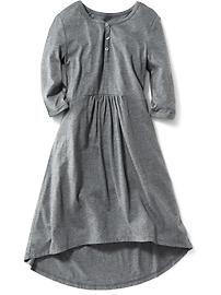 Girls Henley Hi-Lo Dress