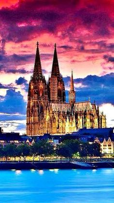 Cologne Cathedral, Germany. It's a majestic temple, with towers reaching 157 meters. They once gave him the title of the highest building in the world.