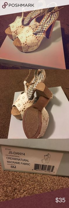 Jessica Simpson Dany 4 Platforms Never been worn!! These are hard to part with because they are simply a beautiful shoe. Super comfy! Jessica Simpson Shoes Heels