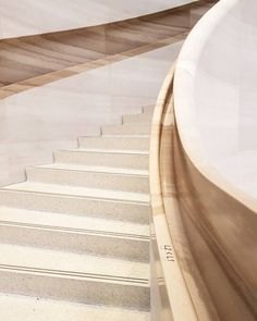 Stairs made from terrazzo - Apple Store Stair Railing, Stairs, Treads And Risers, Terrazzo, Marble, Construction, Staircases, Interior Design, Instagram Posts