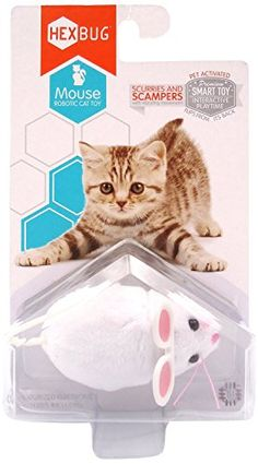 Hexbug Mouse Robotic Cat Toy White W Extra Battery Pack Be Sure To Check