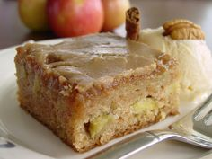 Lick The Bowl Good: Caramelly. Appley. Delicious. Fresh Apple Cake with Brown Sugar Glaze