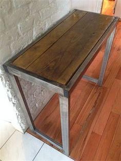 Table bureau m tal sur mesure pinterest bureaux for Mobilier de bureau laval