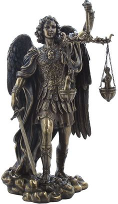 Saint Michael Weighing Souls  Religious Figurine Statue Sculpture-Home Décor-Decorations-Christian Related Gifts-Available for Sale at AllSculptures.com