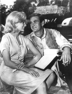 """Yvette Mimieux & Rod Taylor in """"The Time Machine."""""""