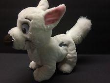 "BOLT Tote A Tail Plush Figure Stuffed Animal Disney Toy Puppy Dog 9"" Long White"