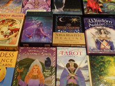 How do I read cards? I use a variety of tarot and oracle card decks. My readings come from a place of the inner knowing, intuition, channeled messages and clairsentience. I read the energy from the cards presenting at the time of the reading.  I see tarot and oracle cards as an art. Beautiful expression through paintings, colours and symbols.