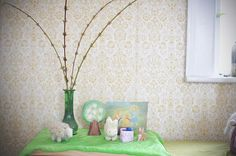The world is waking up again,  And spring has just begun.  The catkins on the willow tree  Turn yellow in the sun.  March brings us bright and windy days,  April gives us showers;  Then May puts green leaves everywhere,  Makes meadows full of flowers.