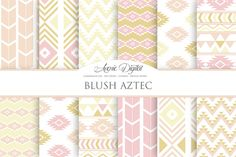 Blush Aztec Digital Paper by AvenieDigital on Creative Market